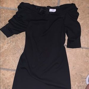 Jessica Simpson black dress with shoulder detail
